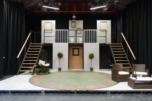 The set for our recent Year 12 production - Much Ado About Nothing built in the Ogstoun Theatre