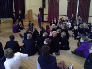 Working with pupils at Bloxham School